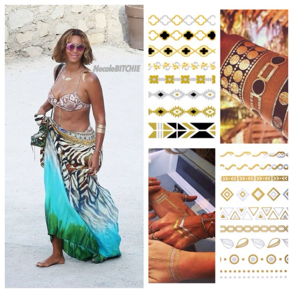 jewels tattoo gold body beyonce