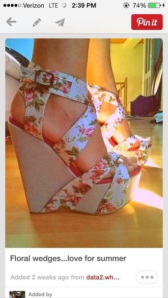 shoes floral wedges graduation pretty staps open toes