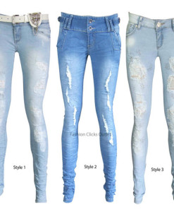 Ladies Jeans Womens Casual Stretch Slim Fit Skinny Blue Pant Trouser All Sizes | Amazing Shoes UK