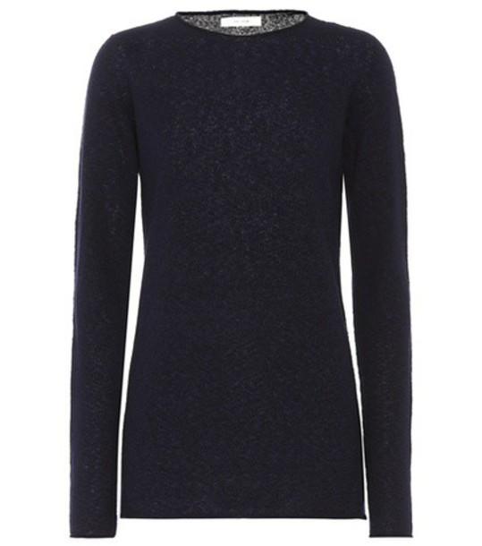 sweater silk blue