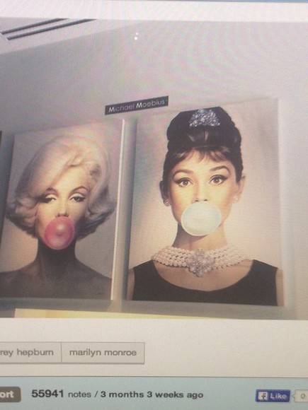 audrey hepburn jewels hipster vintage marilyn monroe canvas home decor