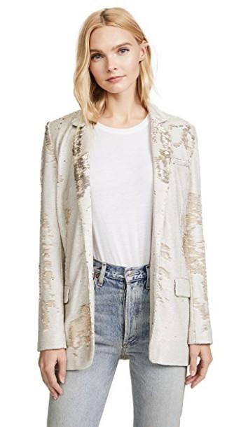 Iro blazer gold jacket