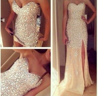 dress gold sequins prom dress pretty gold dress long prom dress long dress strapless