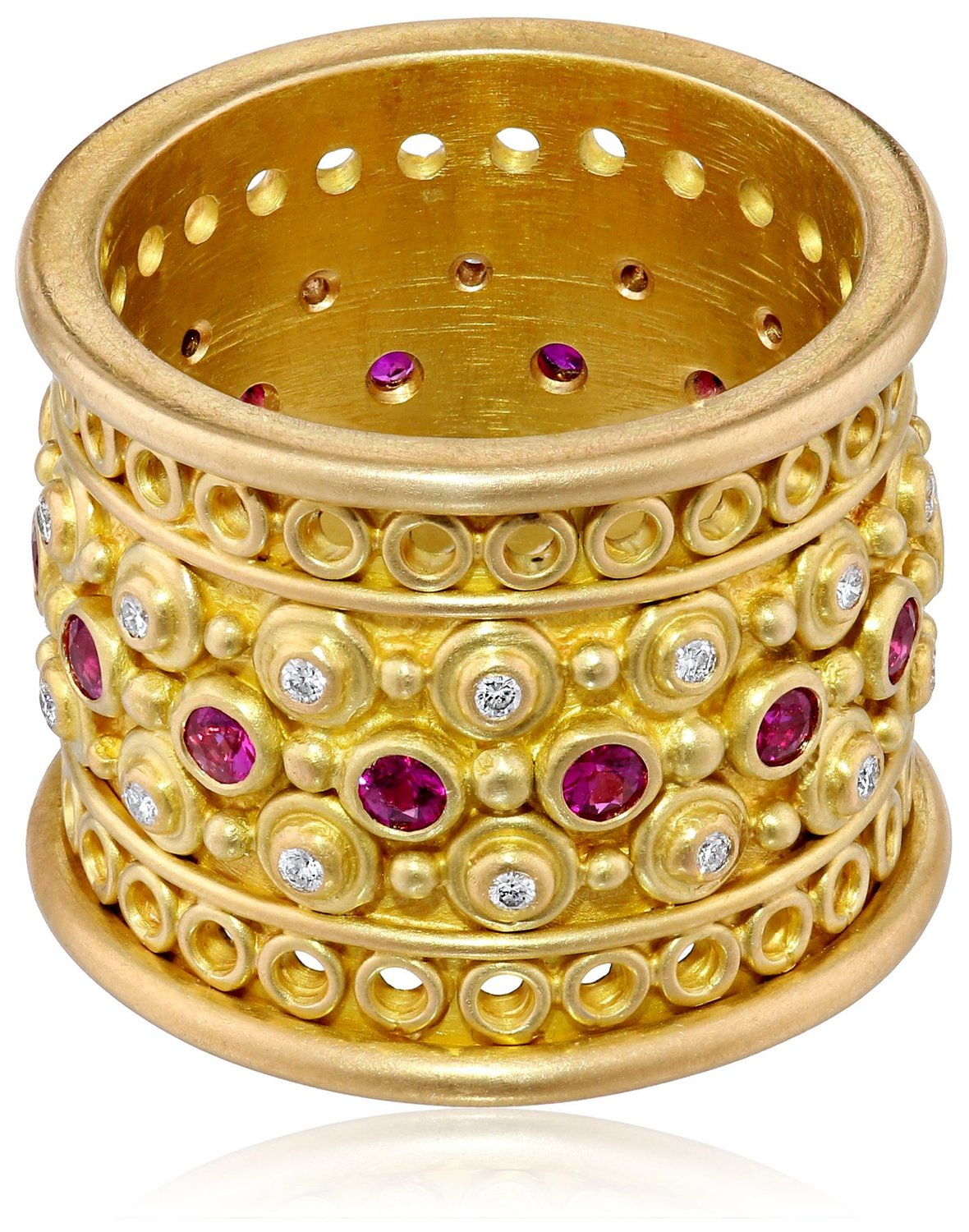 Amazon.com: annie fensterstock burmese crown ring, size 7: jewelry