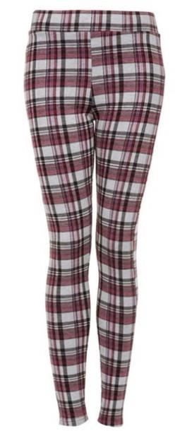 pants leggings white cream red black knit plaid knit leggings