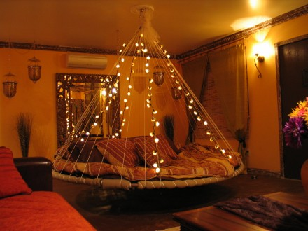 Room With Lofted Bed And Trampoline