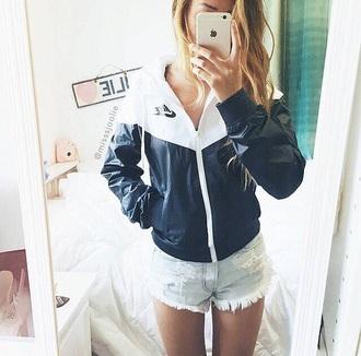 shorts denim jacket nike jacket denim shorts denim torn short light blue