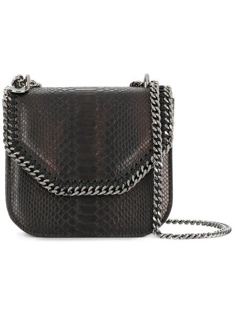 women bag shoulder bag brown crocodile