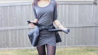dress long sleeves long sleeve dress gray dresses