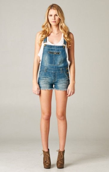 After party denim overalls