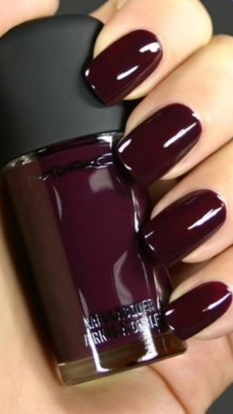 nail polish colorful burgundy