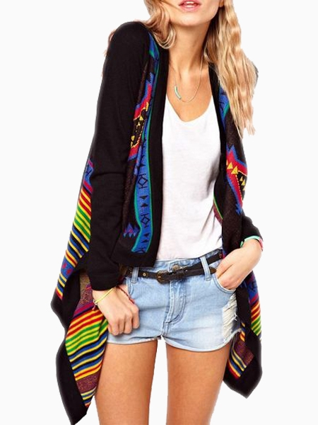 Blanket Wrap Cardigan in Pixelated Floral | Choies