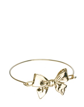 Limited edition bow fine bangle at asos