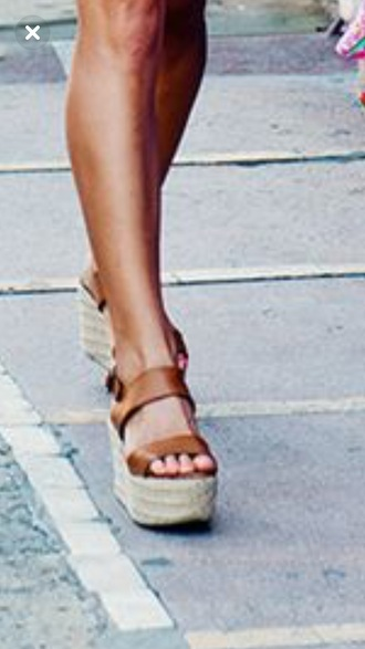 shoes tan espadrilles tan brown espadrilles wedge sandals srappy platform espadrilles