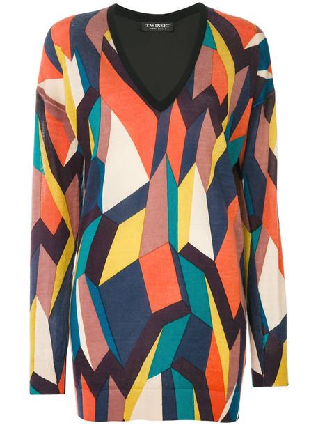 Twin-Set top women geometric wool