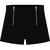Black Double Zipper Straight Shorts - Sheinside.com