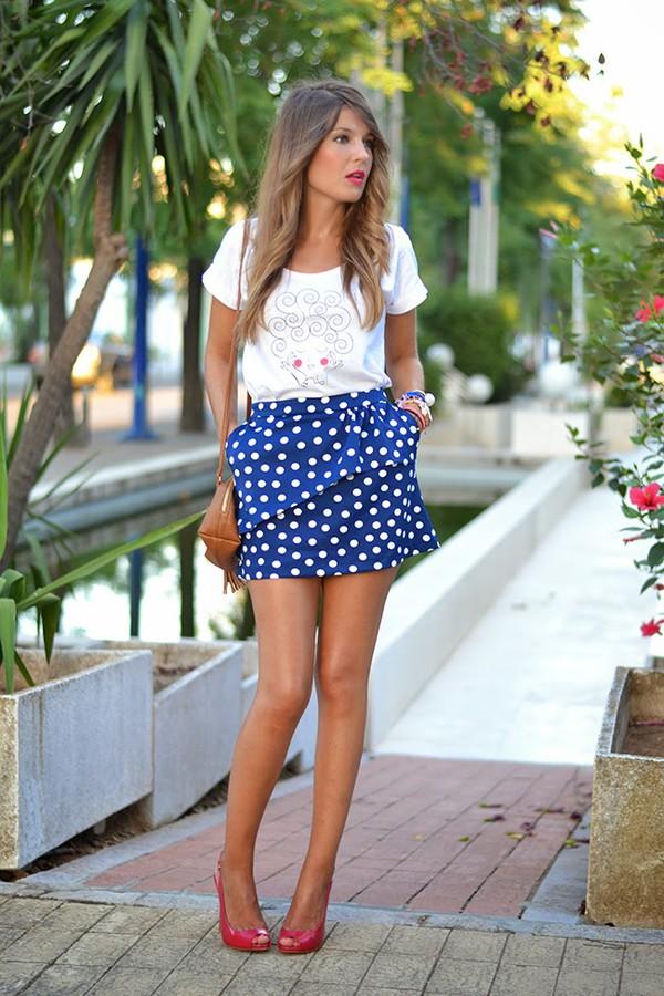 mi aventura con la moda skirt top shoes bag make-up