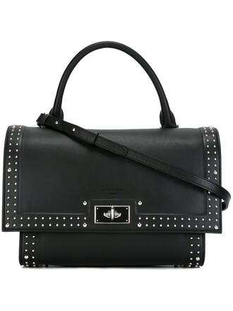 metal women shark leather black bag