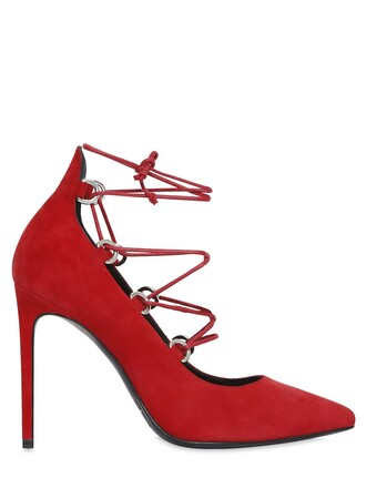 suede pumps paris pumps lace suede dark dark red red shoes