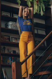 pants,yellow,pinterest,70s style,mustard