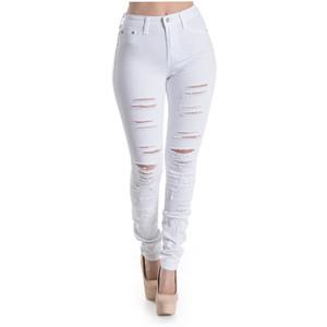 Bleu Evolution The Destroyed Skinny Jeans in White