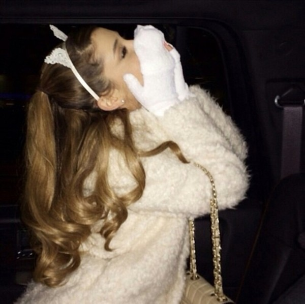 coat white ariana grande