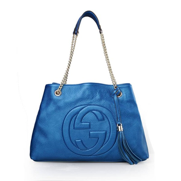 bag gucci bag tote bag high quality blue handbag