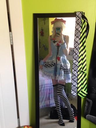 alice in wonderland blue dress halloween halloween costume