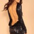 Black Sequin Dress - sequin backless dress | UsTrendy