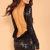 Black Sequin Dress - sequin backless dress | UsTrendy