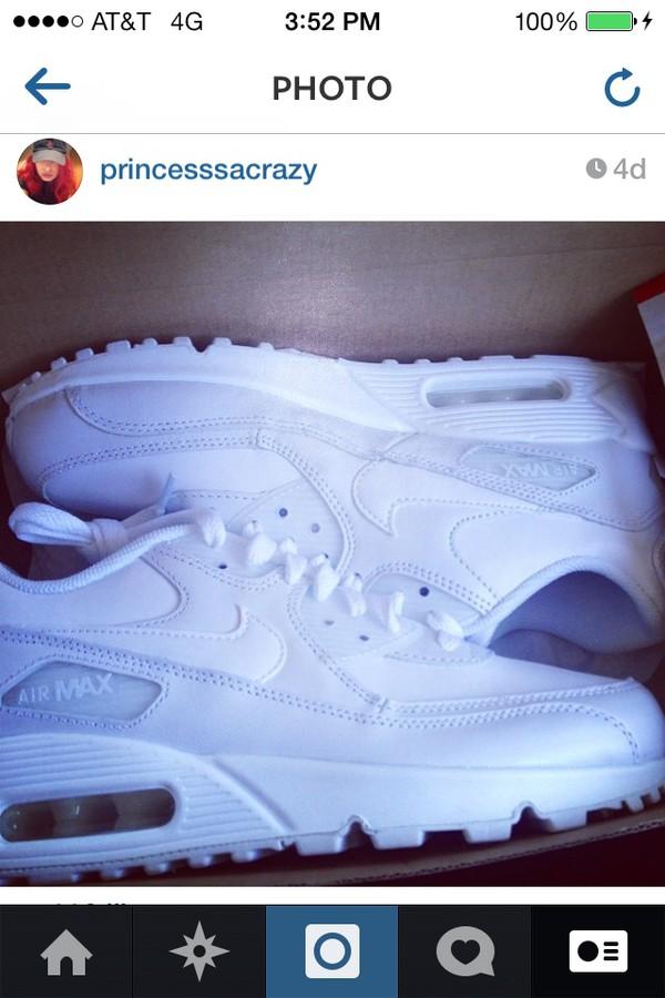 shoes nike air max white