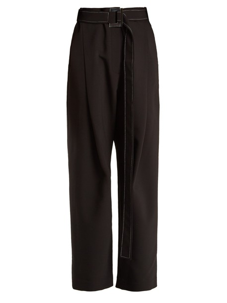 ellery pleated high black pants