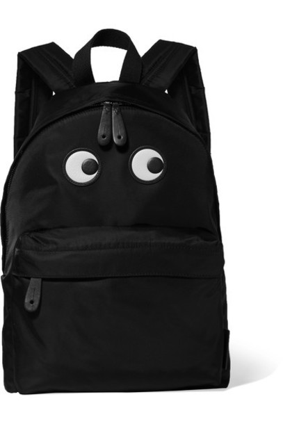 Anya Hindmarch eyes shell backpack leather black bag