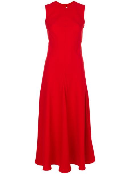 KHAITE dress flare dress flare women fit red