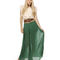 Graceful green skirt - maxi skirt - pleated skirt - $41.00