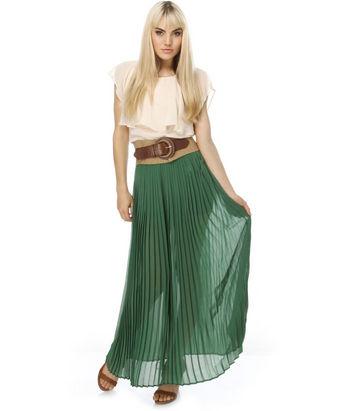 Graceful green skirt