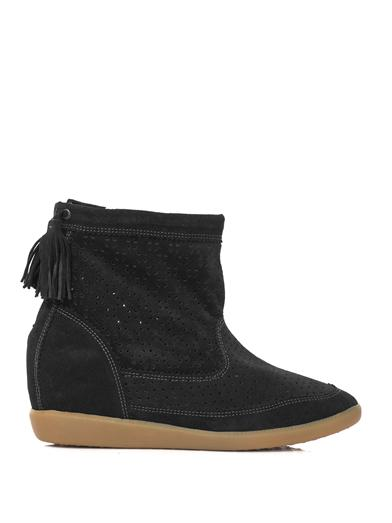 Beslay suede wedge boots | Isabel Marant | MATCHESFASHION.COM