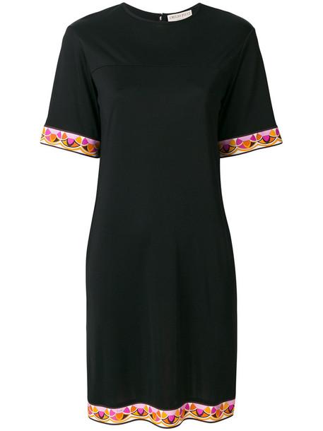 Emilio Pucci dress women black silk