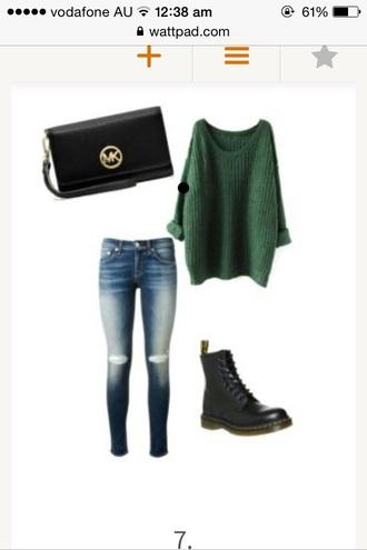 sweater green long