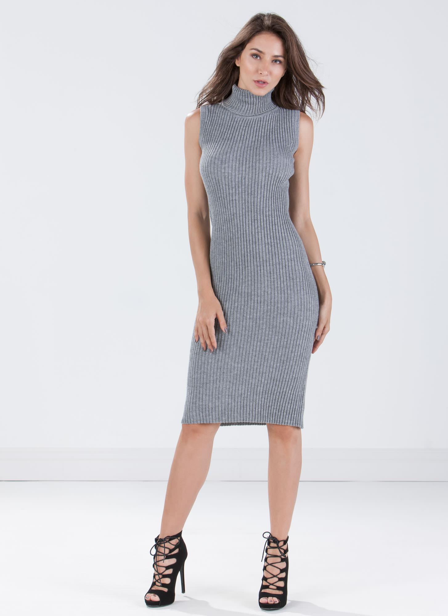 58222d554441 Honestly Ribbed Knit Bodycon Dress HGREY - GoJane.com
