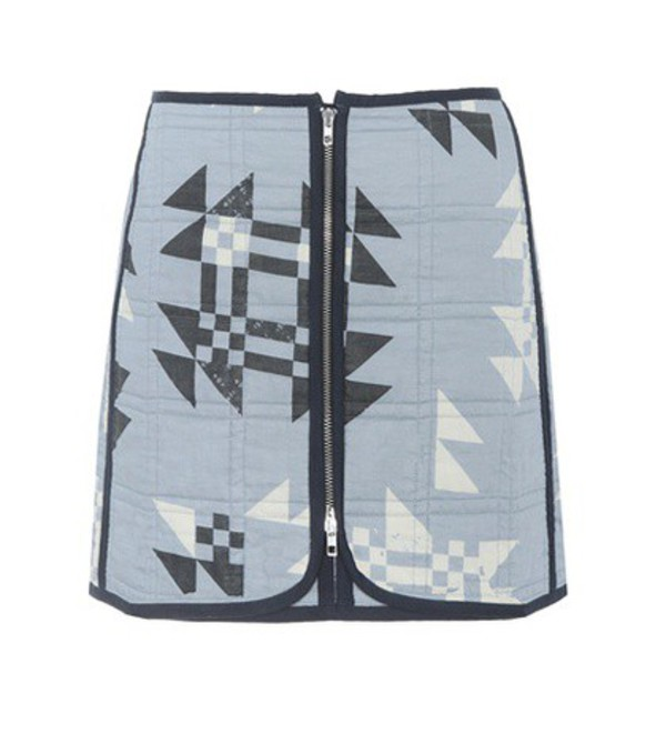 Isabel Marant Lickly quilted cotton skirt in blue