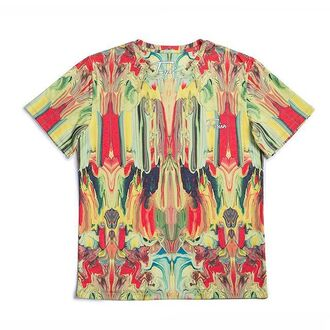t-shirt print yellow menswear streetstyle streetwear fusion printed t-shirt abstract