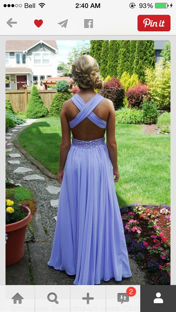dress lavender prom dresses