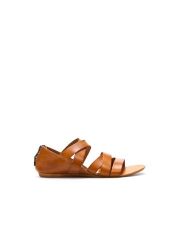 Sandale breite streifen