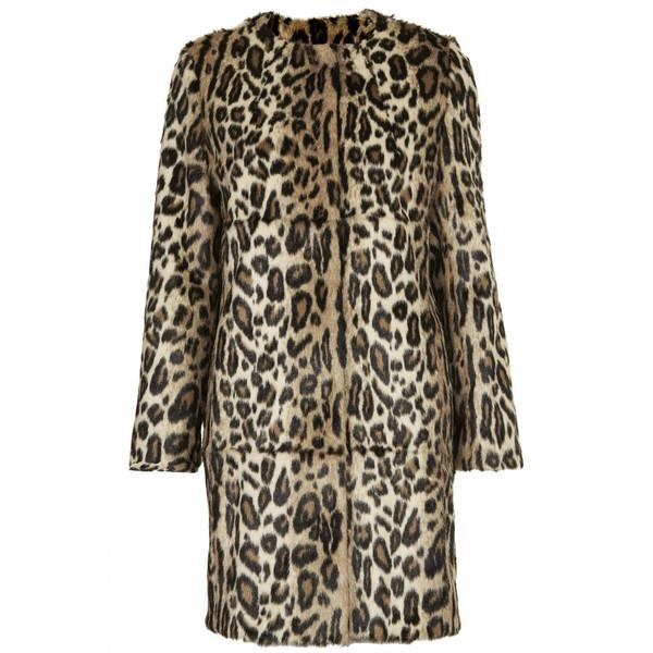 TOPSHOP **Faux Fur Animal Print Coat - Polyvore