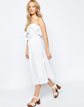dress,white dress,summer dress,off the shoulder,off the shoulder dress,ruffle