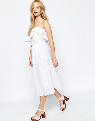 dress white dress summer dress off the shoulder off the shoulder dress ruffle