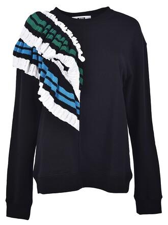 sweatshirt ruffle sweater