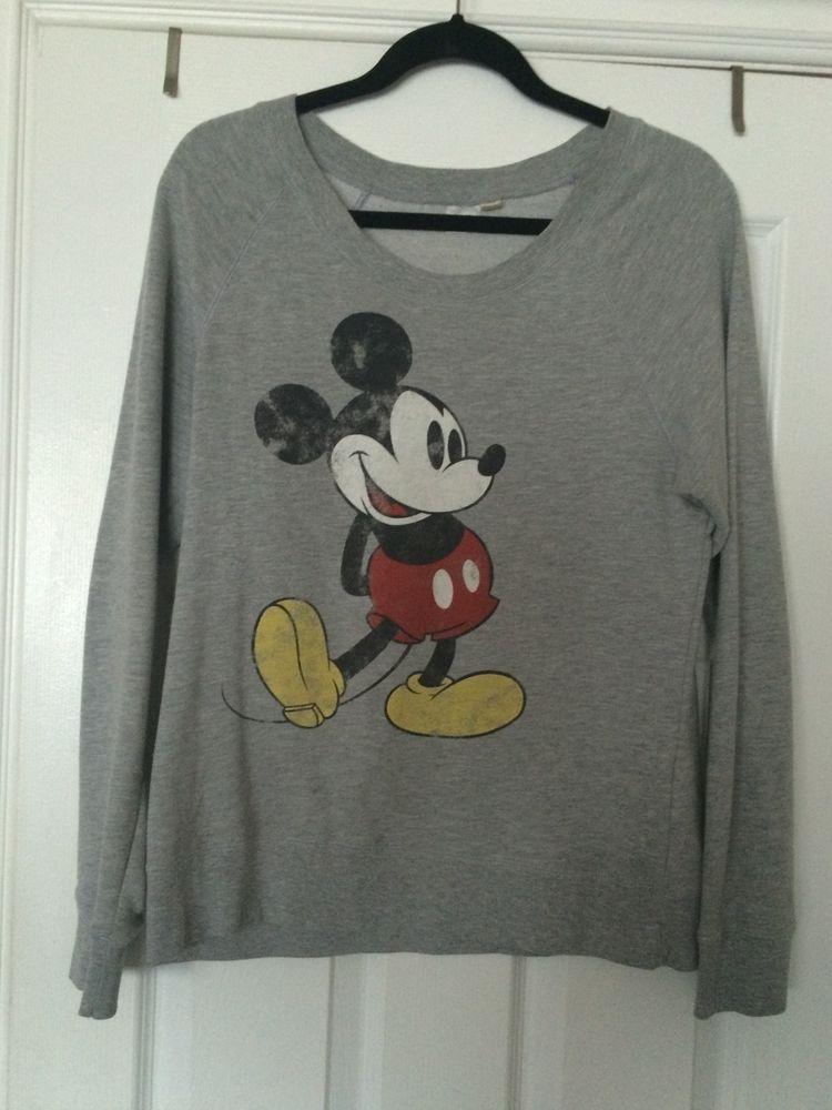 Mickey mouse disney grey sweatshirt sweater shirt