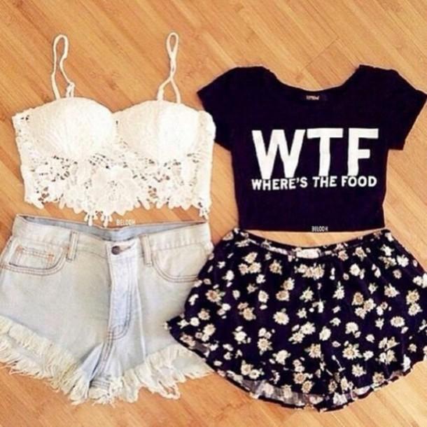 t-shirt shirt shorts
